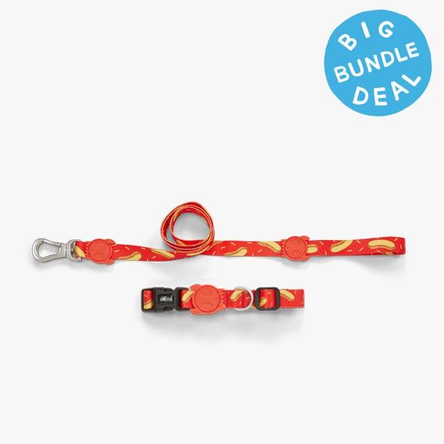 hot dog leash and collar