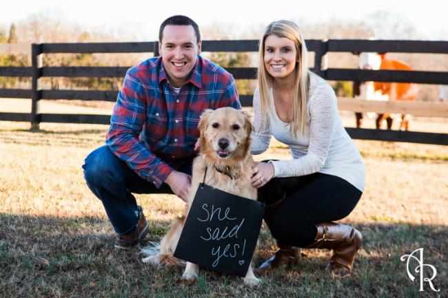 Dog of Honor Engagement Photo