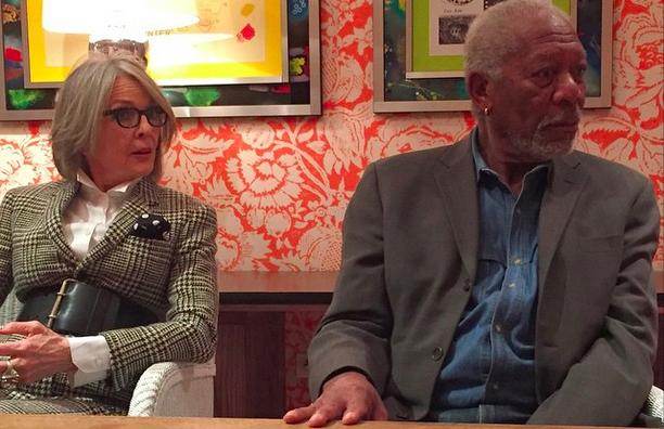 Morgan Freeman and Diane Keaton Interview
