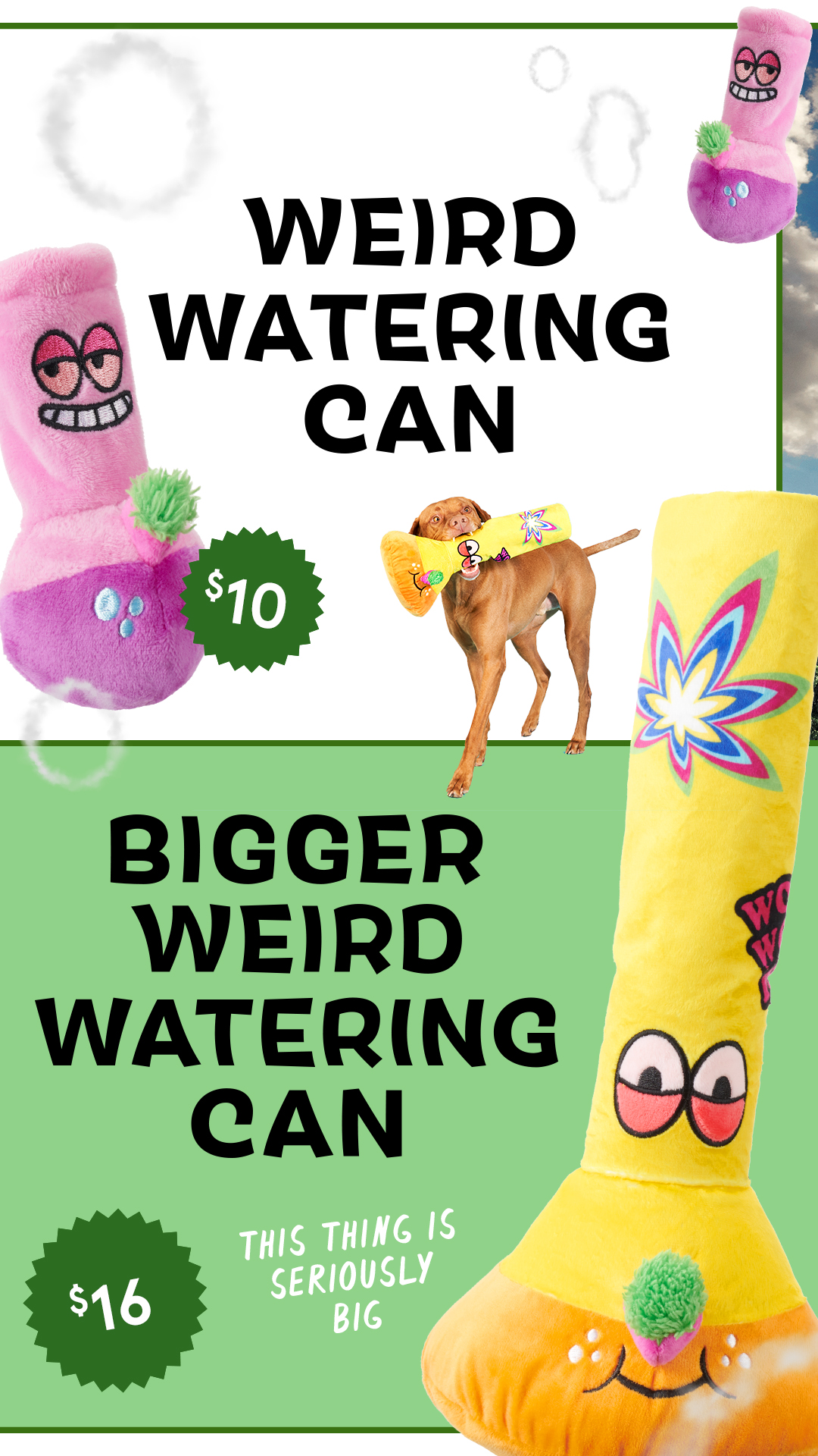 barkbox 420 weed toys watering cans